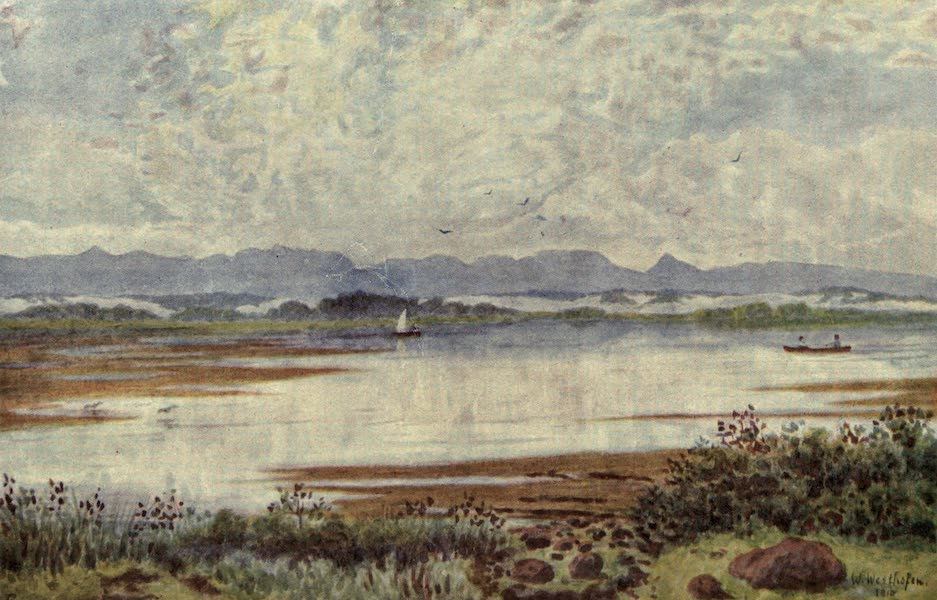 The Cape Peninsula: Pen and Colour Sketches - At Lakeside, looking South-East (1910)