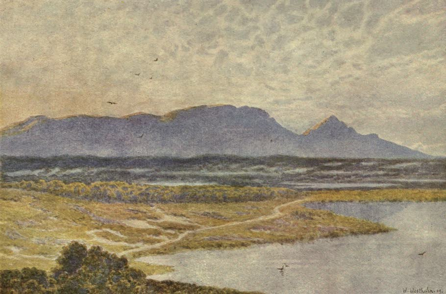 The Cape Peninsula: Pen and Colour Sketches - Table Mountain from Retreat Flats (1910)