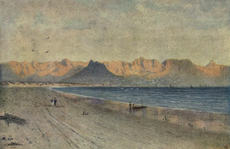 The Cape Peninsula: Pen and Colour Sketches - At the Head of False Bay (1910)