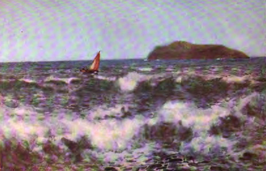 The Channel Islands Painted and Described - Breakers off Jethou Island (1904)