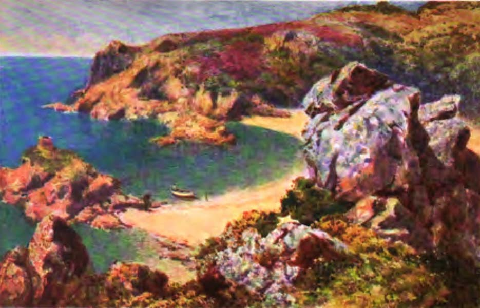The Channel Islands Painted and Described - Portelet Bay, Jersey (1904)