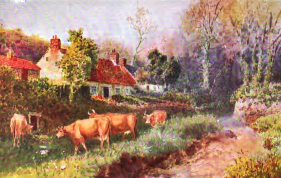 The Channel Islands Painted and Described - Farmhouse, Guernsey (1904)
