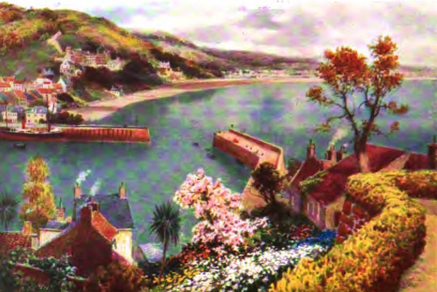 The Channel Islands Painted and Described - St. Aubin, Jersey, from grounds of the Somerville Hotel (1904)