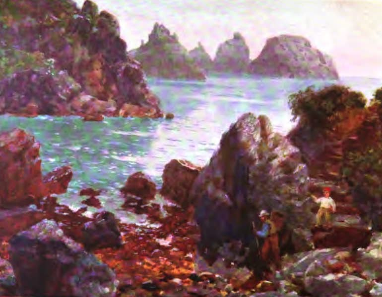 The Channel Islands Painted and Described - The Pea Stacks (Tas de Pois), Jerbourg, Guernsey (1904)