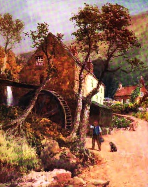 The Channel Islands Painted and Described - Water Mill at Petit Bot, Guernsey (1904)