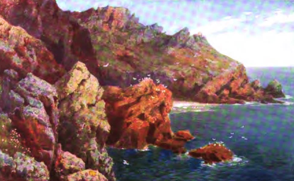 The Channel Islands Painted and Described - Moye Point, near Le Gouffre, Guernsey (1904)
