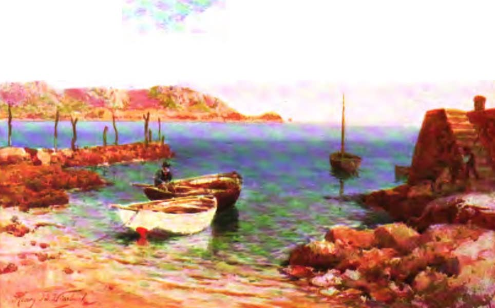The Channel Islands Painted and Described - Moored at St. Brelade, Jersey (1904)