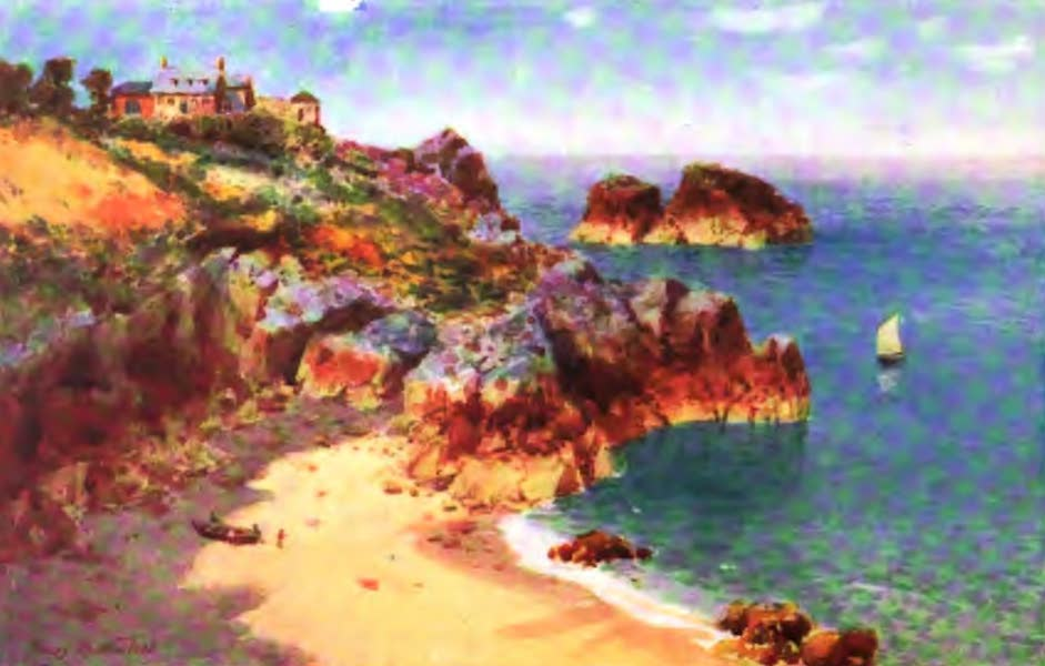 The Channel Islands Painted and Described - Petit Portelet Bay, Jersey (1904)