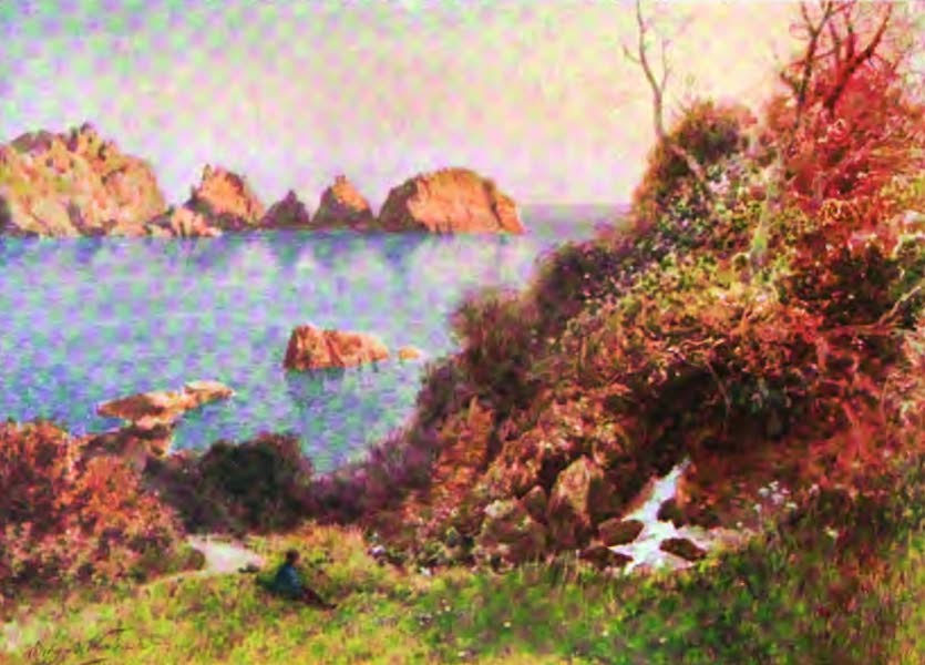 The Channel Islands Painted and Described - Moulin Huet, Guernsey (1904)