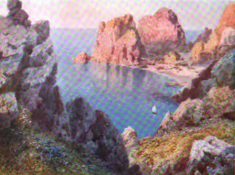 The Channel Islands Painted and Described - Road to Creux Harbour, Sark (1904)