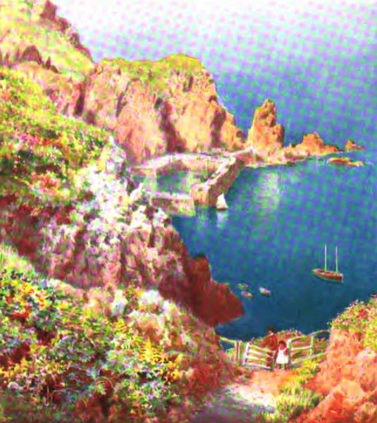 The Channel Islands Painted and Described - The Sister Rocks, Aldemey (1904)