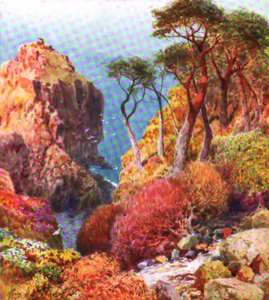 The Channel Islands Painted and Described - The Creux Harbour, Sark (1904)
