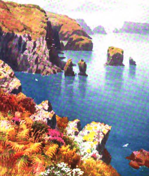 The Channel Islands Painted and Described - The Coupee, Sark (1904)