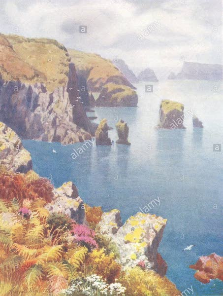 The Channel Islands Painted and Described - Tardifs Cottage, Sark (1904)