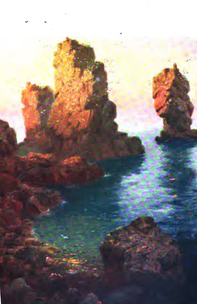 The Channel Islands Painted and Described - Les Autelets, Sark (1904)