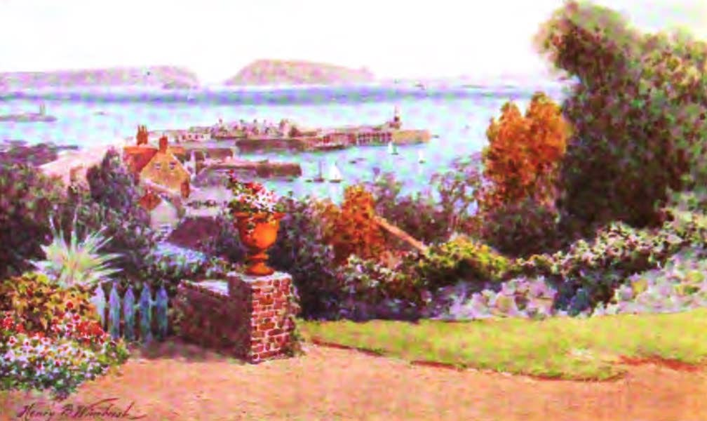 The Channel Islands Painted and Described - View from Old Government House Hotel, Guernsey (1904)