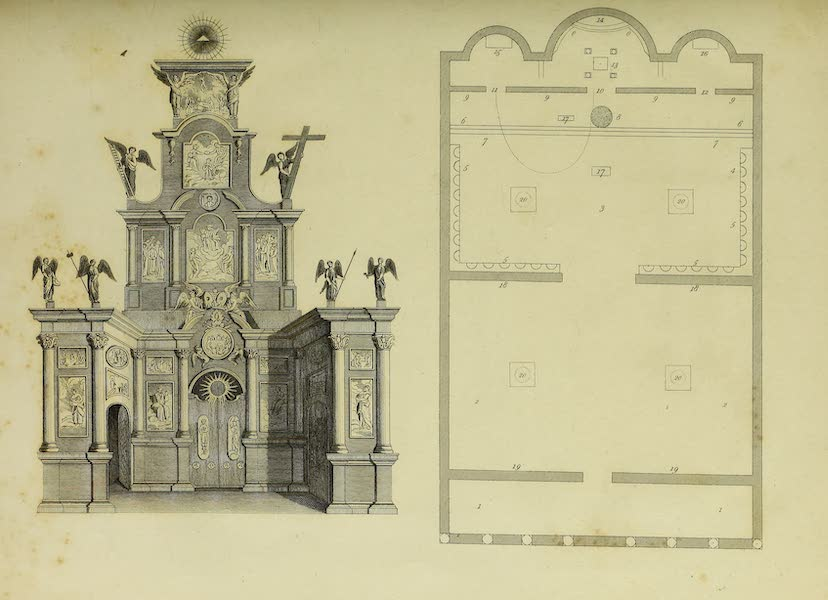 The Character of the Russians and a Detailed History of Moscow - Iconostase or Screen and Plan of an Ancient Russo-Greek Church (1823)