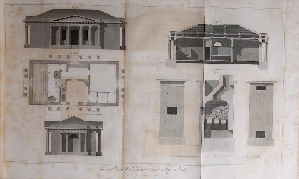 The Character of the Russians and a Detailed History of Moscow - Views and Plans of a Russian Banya or Vapour Bath (1823)