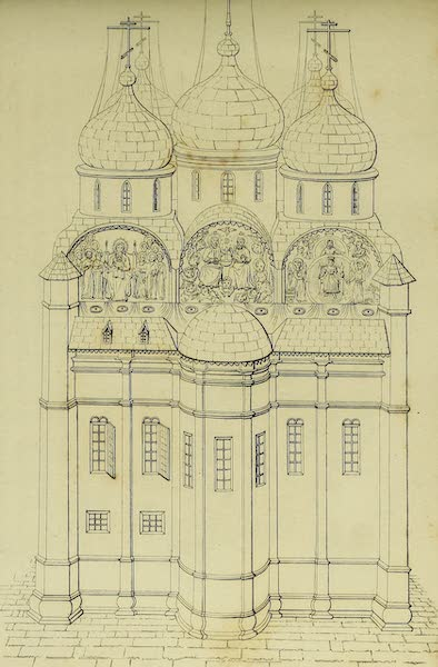 The Character of the Russians and a Detailed History of Moscow - View of the East End of the Cathedral of the Assumption (1823)