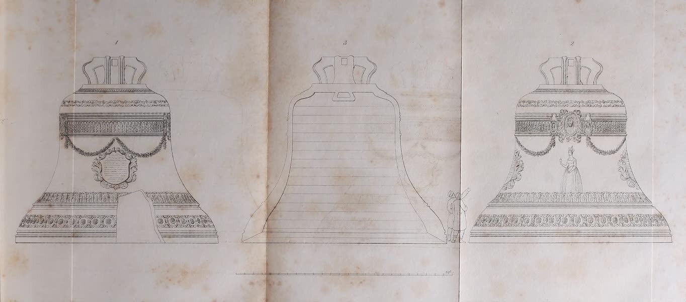 The Character of the Russians and a Detailed History of Moscow - The Tsar or King of Bells, commonly called the Great Bell of Moscow (1823)