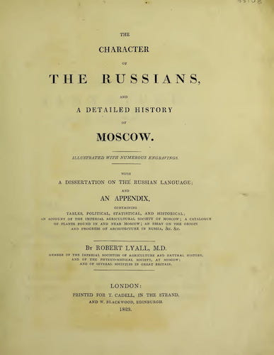 Wellcome Collection - The Character of the Russians and a Detailed History of Moscow