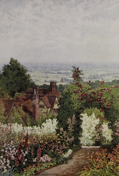 The Charm of Gardens - The Weald of Kent, showing the Country like a Patchwork Quilt (1910)
