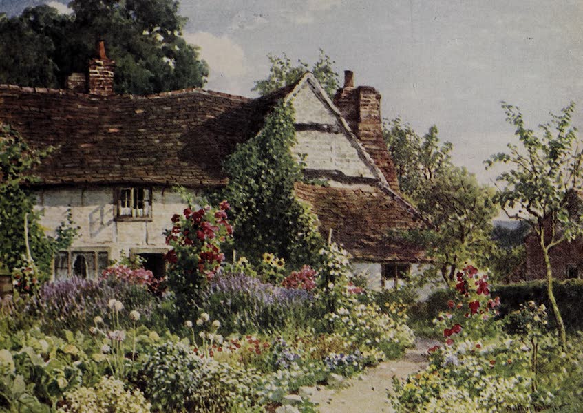 The Charm of Gardens - A Surrey Cottage (1910)