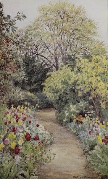 """The Charm of Gardens - Tulips in the """"Garden of Peace"""" (1910)"""