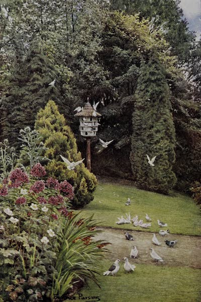 The Charm of Gardens - A Dovecot in a Sussex Garden (1910)