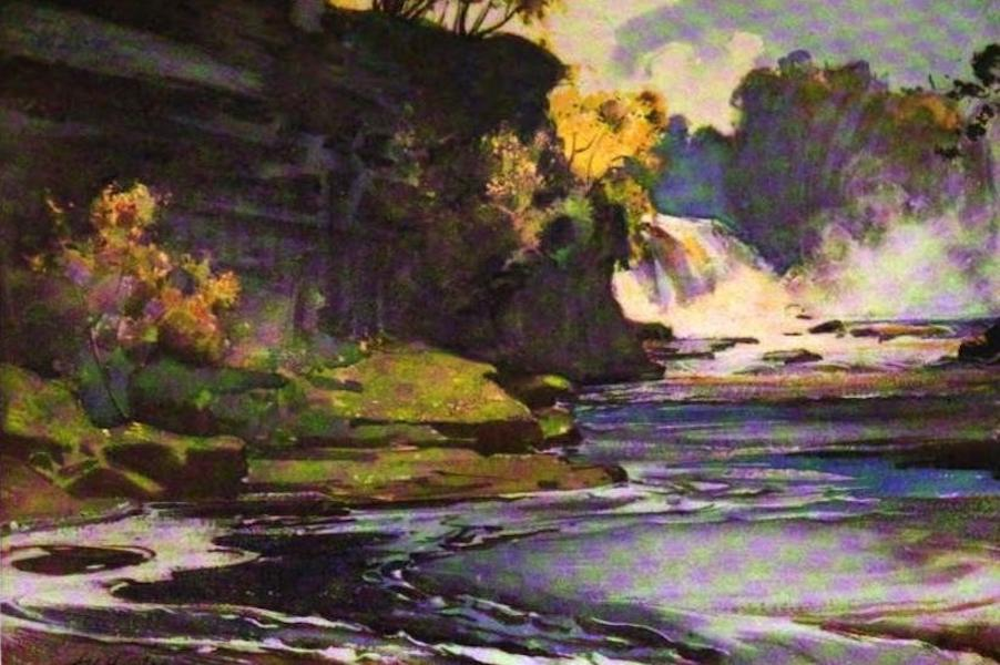 The Clyde River and Firth Painted and Described - Bonnington Falls (1907)