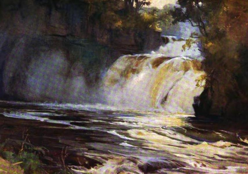 The Clyde River and Firth Painted and Described - Corra Linn (1907)