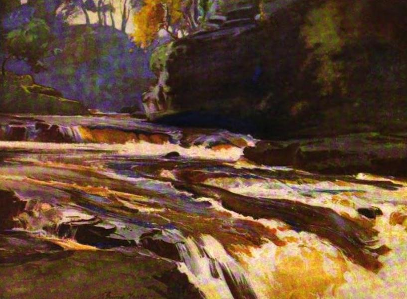The Clyde River and Firth Painted and Described - The Clyde in spate, near Lanark (1907)
