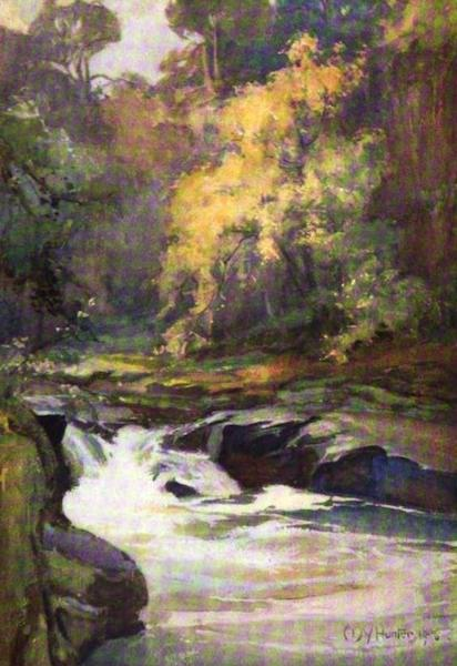 The Clyde River and Firth Painted and Described - Wallace's Leap, near Lanark (1907)