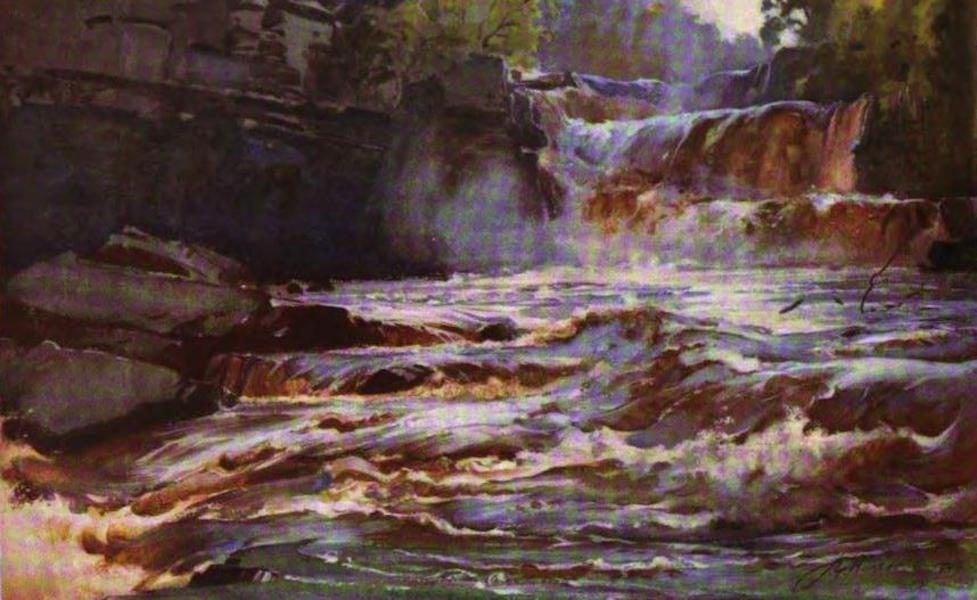 The Clyde River and Firth Painted and Described - Stonebyres Falls (1907)