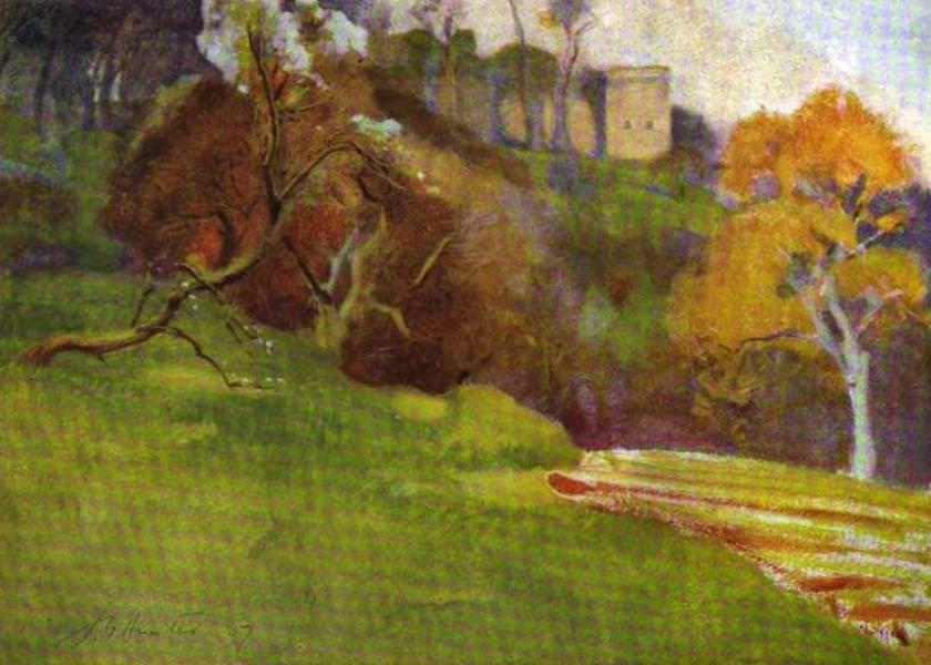 The Clyde River and Firth Painted and Described - Tillietudlem(Craignethan Castle) (1907)