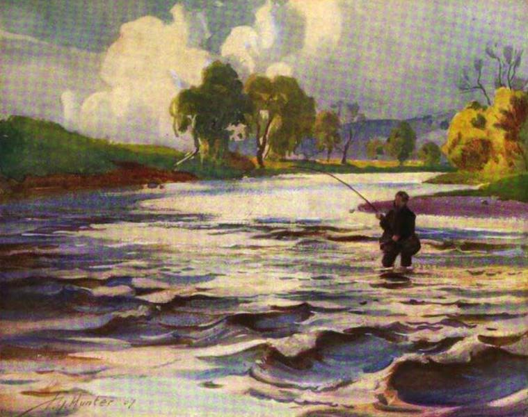 The Clyde River and Firth Painted and Described - A Favourite Pool near Rosebank (1907)