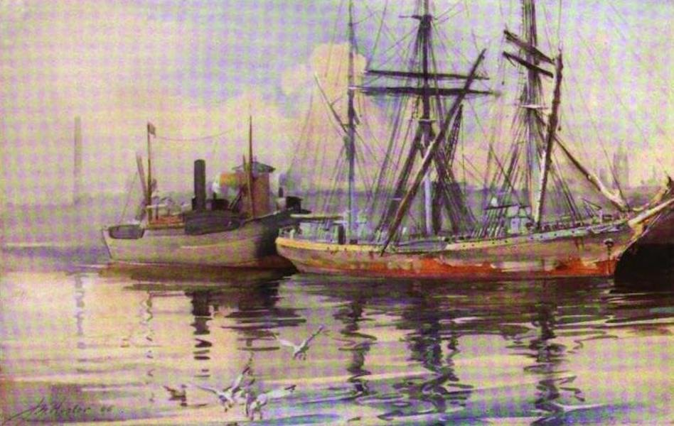 The Clyde River and Firth Painted and Described - Queen's Dock, Glasgow (N. Basin) (1907)