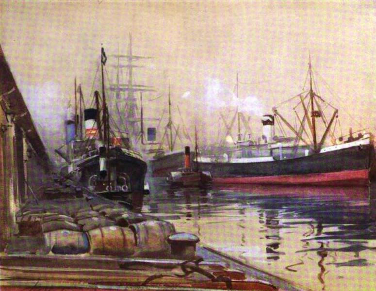 The Clyde River and Firth Painted and Described - Queen's Dock, Glasgow (S. Basin) (1907)