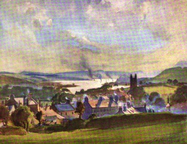 The Clyde River and Firth Painted and Described - Old Kilpatrick - Looking West (1907)