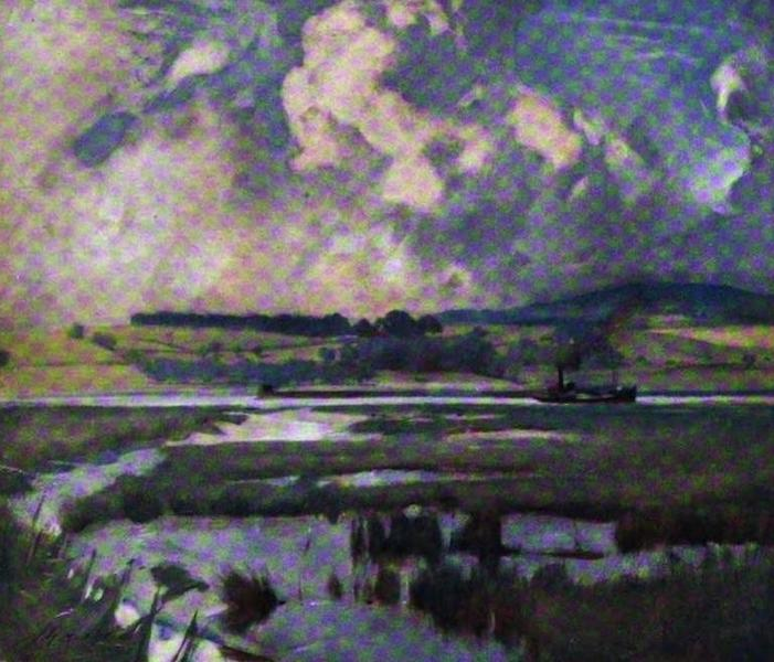 The Clyde River and Firth Painted and Described - The Marshes below Bowling (1907)