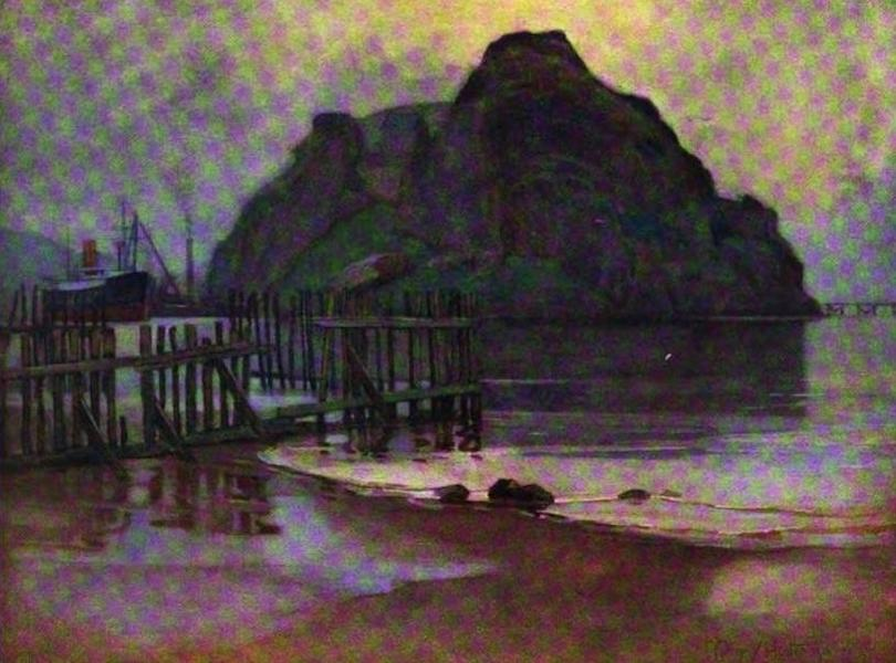 The Clyde River and Firth Painted and Described - Low Tide at Daybreak - Dumbarton Rock (1907)