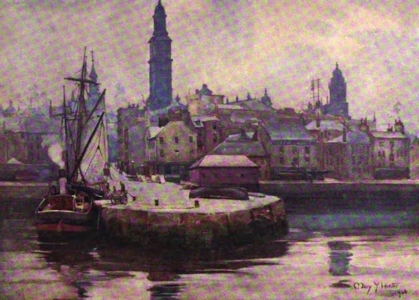 The Clyde River and Firth Painted and Described - West Harbour, Greenock (1907)