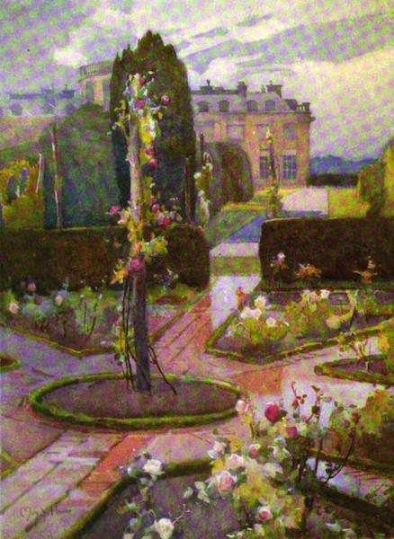 The Clyde River and Firth Painted and Described - The Rose Garden, Rosneath House (1907)