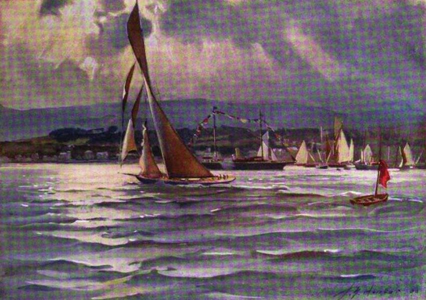 The Clyde River and Firth Painted and Described - Royal Clyde Yacht Club Regatta, Hunter's Quay, June, 1906 (1907)