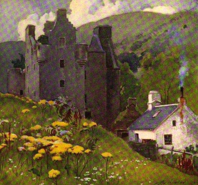 The Clyde River and Firth Painted and Described - Dunderave Castle, Head of Loch Fyne (1907)
