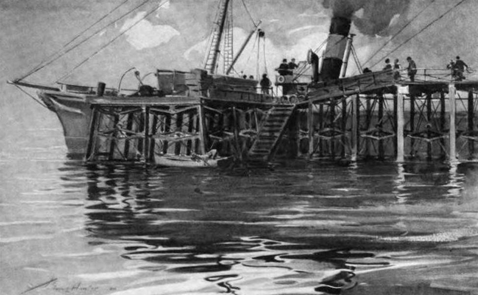 The Clyde River and Firth Painted and Described - Carradale Pier and the Campbeltown Boat (1907)