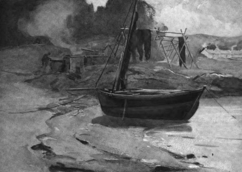 The Clyde River and Firth Painted and Described - BarkingHerring Nets, Carradale (1907)