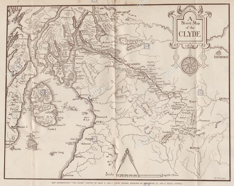 The Clyde River and Firth Painted and Described - Sketch Map of the Clyde (1907)