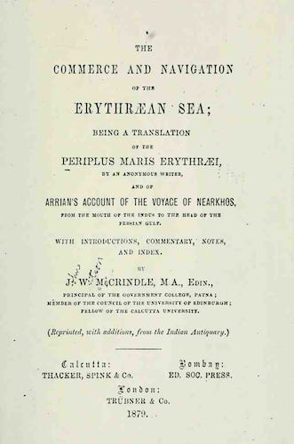 The Commerce and Navigation of the Erythraean Sea (1879)