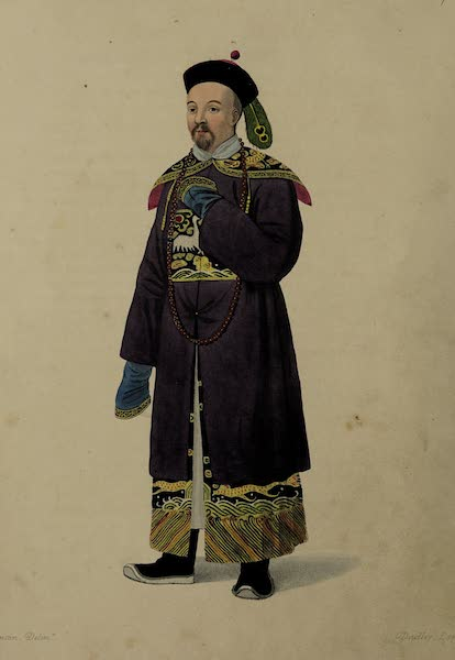 The Costume of China - A Mandarin of Distinction in his Habit of Ceremony (1800)